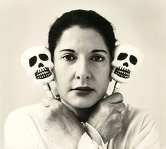 Marina Abramović, Self-Portrait with maracas, 2006  Art Experience NYC  www.artexperiencenyc.com    love her relation to herself in space  11013