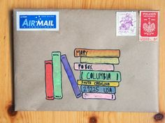 can be drawn above the excerpt from the book of the month. I'll try to pick a book that's in the library naomi bulger: Mail art … Envelope Lettering, Envelope Art, Envelope Design, Mail Art Envelopes, Addressing Envelopes, Letter Writing, Letter Art, Pen Pal Letters, Letters Mail