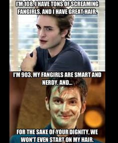 Dr. Who > Sparkles the Vampire. Always.
