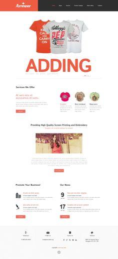 'Arrower Silkscreen' #webdesign for #Responsive Template http://zign.nl/49446