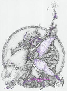 Purple Dragon by Eileen Megan Steinhauer