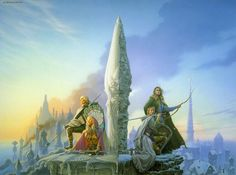 """Michael Whelan Dragonbone Chair - cover art from Tad Williams' """"To Green Angel Tower"""", the final two books of The Dragonbone Chair"""