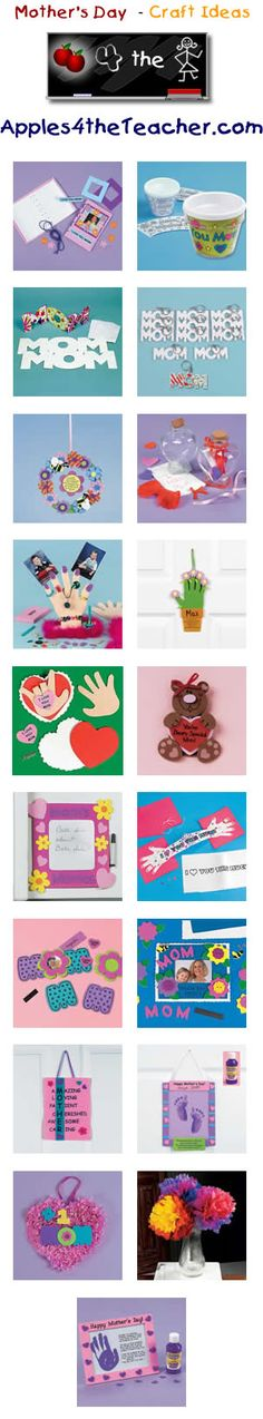 Fun Mothers Day crafts for kids - Mother's Day craft ideas for children.