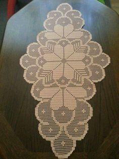 Patrones gratis de crochet camino de mesa caminos de - Camino de mesa elegante en crochet ...