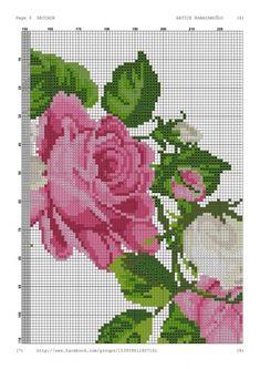 Geri Dönüşüm Projeleri Cross Stitch Rose, Cross Stitch Flowers, Rico Design, Booties Crochet, Prayer Rug, Counted Cross Stitch Patterns, Tribal Art, Cross Stitching, Blackwork