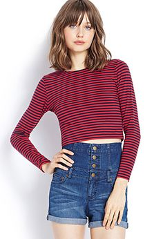 Striped Crop Top | FOREVER21 - 2000073510