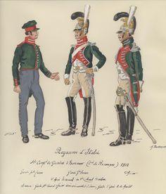 Guardie d'onore e ufficiale delle guardie d'onore del regno d'Italia