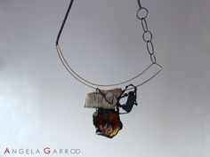 """ No Flowers please "" Necklace .........................Polymer Clay, oxidised Silver, Brass and other materials."