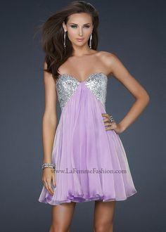 La Femme 17649 Lavender Cocktail Dress Website Special