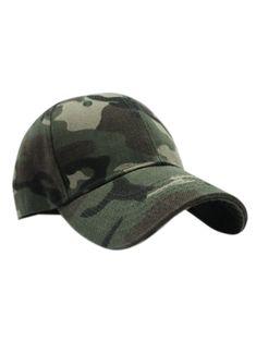 e2d4466f01e Camouflage Pattern Sunscreen Baseball Hat  Fashion  Womens  Accessories   ArmyGreen