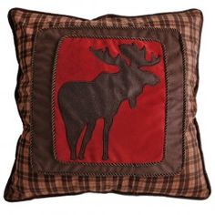 Framed Moose Pillow-cabin