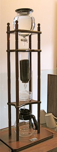 slow-drip coffee maker  from Japan; at Caffetteria SoHo