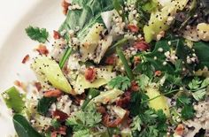 Speckled Salad with Quinoa, Leek, Bacon,  Chervil from 'Home Made Winter'