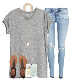 tomorrows my last day before I move to another school:( by serenag123 on Polyvore featuring H&M, Free People, Billabong, Kendra Scott, Casetify and Tory Burch