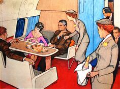 1959 ... Douglas Commercial 'DC'-8   Rene Gruau.