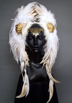 CUSTOM ORDER Large Warrior Style Headdress. $425.00, via Etsy.