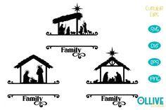 Christmas Nativity Family Split Monogram SVG Bundle Christmas Nativity, Scene Creator, First They Came, Line Design, Journal Cards, School Design, Silhouette Studio, Cricut Design, Design Bundles