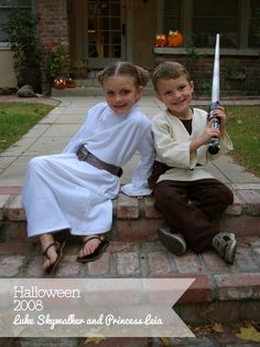 diy princess leia costume | Luke Skywalker and Princess Leia Halloween Costumes
