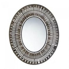 Faux Rattan Oblong Wall Mirror