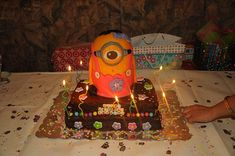 For a minion loving 2 year old daughter Minion Cakes, Minions Love, Cake Designs, Daily Inspiration, Birthday Candles, Cake Decorating, Daughter, Princess, Ideas