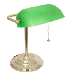 Banker's Lamp / Desk Lamp with Glass Shade – lightaccents.com