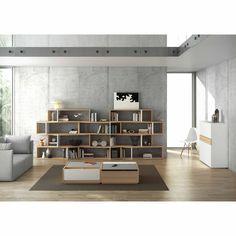 Etagère design en bois 3 niveaux en décalé L120cm H35cm ONE TemaHome port offert