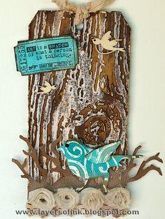 Layers of ink: Dry Embossed Wax Resist Tutorial