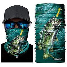 Meilaier UV Fishing Mask Moisture Wicking Headband Seamless Bandana Coolmax Microfiber for Cycling Running Hunting Motorcycle Head Wear (Cloud) Fish Mask, Buff Original, Fishing Charters, Bass Fishing, Mask For Kids, Moisturizer, 1, Cycling, Hunting