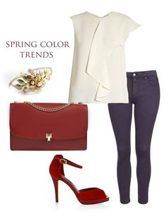 The elegant shade of Bordeaux, along with the refined design of our beloved leather bag draws attention to the graceful and feminine style with which we combine precious clothing pieces. Pair these simply beautiful luxury accessories with an office top, adding a splash of color with dark red shoes.