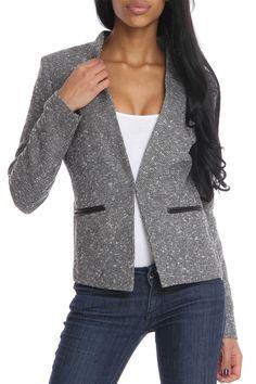 Jaye.e Tweed Jacket In Gray -