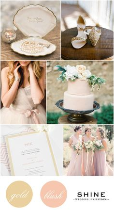 Gold and Blush Wedding Inspiration from Shine Wedding Invitations