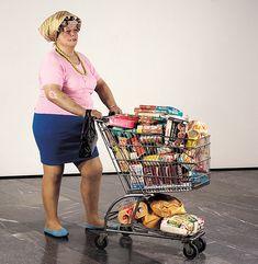 Sur le blog d'un professeur d'arts plastiques, la présentation de Supermarket shopper de Duane Hanson.