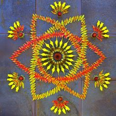 Beautiful and Colorful Flower Mandalas by Kathy Klein l #danmala