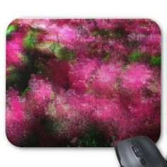 Abstract Artistic Pink Flowers Mousepads