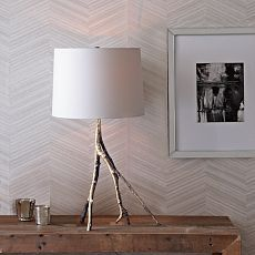 Branch Table Lamp - Silver - West Elm