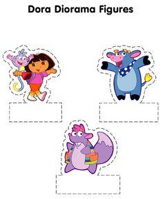 Dora The Explorer Cut Out Figures Craft - Dora the Explorer Crafts, puzzles and activities