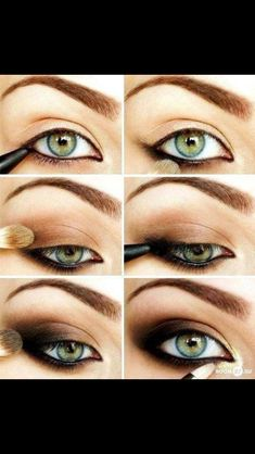 This simple yet sexy smokey eye is gorgeous and perfect for green and hazel eyes.