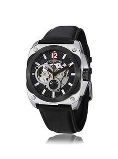 78% OFF Stuhrling Men's 580.01 Leisure Black Stainless Steel Watch