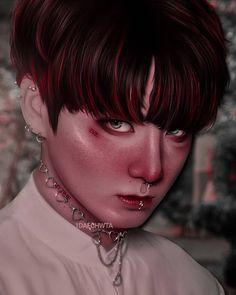 Jeon Jungkook Hot, Jungkook Oppa, Manado, Taehyung Fanart, Black Pink Kpop, Stay Gold, Bts Drawings, Kpop Fanart, Foto Bts