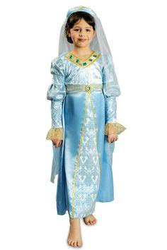 Nicht nur tapfere Ritter, Barden und herrschaftliche Könige kennt man aus der Zeit des Mittelalters. Auch die zauberhaften Burgfrauen spielen eine wichtige Rolle! Mit diesem tollen Kostüm für Mädchen bestehend aus einem langen...
