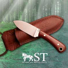 The Blind Horse Knives Short Trail or ST. A versatile small knife that you would love to carry around your neck.