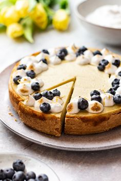 Vegan lemon cheesecake - Lazy Cat Kitchen Vegan Cake, Vegan Desserts, Healthier Desserts, My Recipes, Cake Recipes, Vegan Recipes, Vegan Meringue, Lazy Cat Kitchen, Vegan Whipped Cream