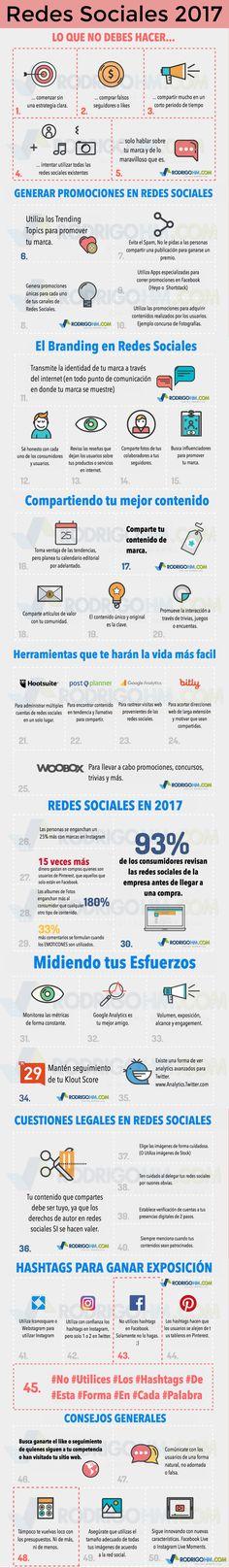 Hola: Una infografía sobre Redes Sociales 2017. Vía Un saludo