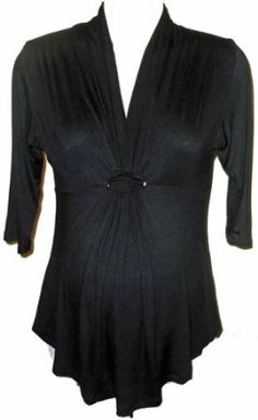 Knot Front Maternity Top (ONe Size (2-10), Black) Glam South Beach Maternity. $49.00
