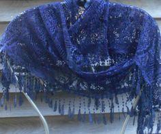 OFF at LambfeathersLace Infinity scarfNavy Blue Lace Scarf Lace Fashion Bridal Shawl, Wedding Shawl, Boho Wedding, Lace Scarf, Lace Shawls, Navy Blue Scarf, Vintage Scarf, Blue Lace, Mother Of The Bride