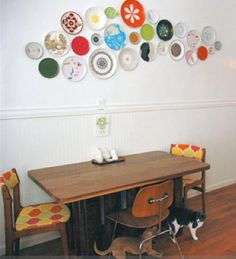 plate wall. My 50's kitchen