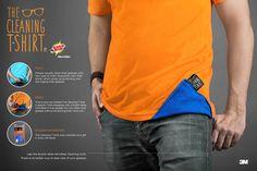 「Tシャツでメガネを拭いたことありますよね?」3Mの課題解決型プロモTシャツ     AdGang http://adgang.jp/2014/07/69550.html