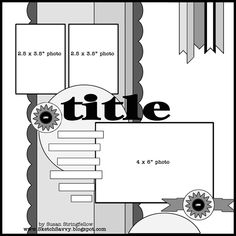 Single Page Scrapbook Layout | Three Photos