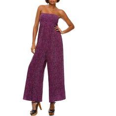 51dc3d64a7 Miss Tina - Miss Tina Women's Smocked Wide-Leg Jumpsuit - Walmart.com