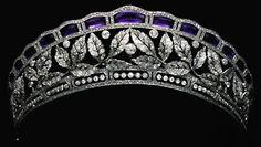 Rosamaria G Frangini ... Amethyst and diamond tiara, Prussian.